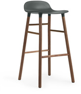 Normann Copenhagen Form Barstool H75cm Green/Walnut