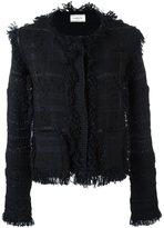 Lanvin rough edged tweed jacket - women - Silk/Polyamide/Polyester/Alpaca - L