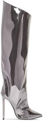Alexandre Vauthier 110MM ALEX METALLIC PVC TALL BOOTS