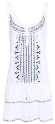 Melissa Odabash Jaz Crochet-trimmed Embroidered Woven Mini Dress