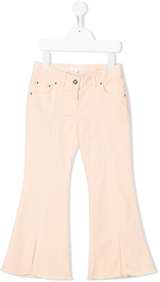 Chloé Kids high-rise flared jeans