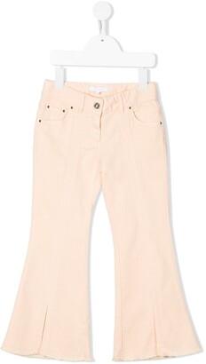 Chloé Kids High-Rise Flared Jeans