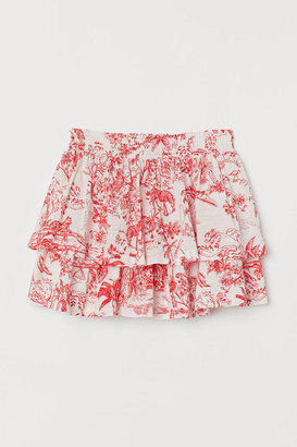 H&M Patterned Tiered Skirt - Red