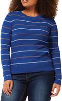 Dex Plus Striped Long-Sleeve Sweater