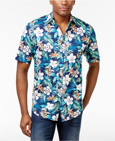 Club Room Men's Tropical Floral Cotton Shirt, Created for Macy's