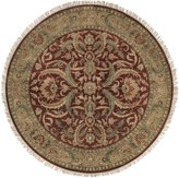 Surya Rug TJ59-8RD Round Burgundy Hand Knotted Area Rug 8 ft.
