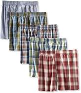 Fruit of the Loom Men's 5-Pack Low Rise Tartan Boxer, Tartan Plaid