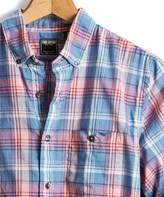 Todd Snyder Slim Fit Madras Button Down Shirt in Pink