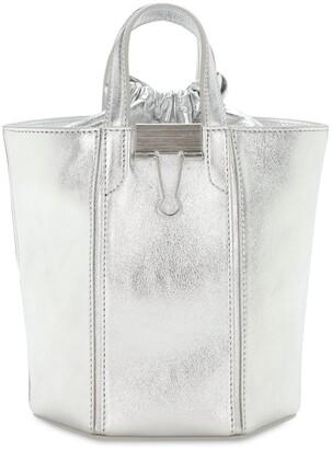 Off-White Laminate Allen Leather Bucket Bag