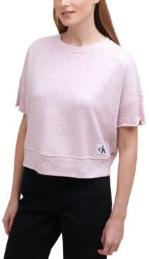 Calvin Klein Jeans Raw-Edge Pullover Top