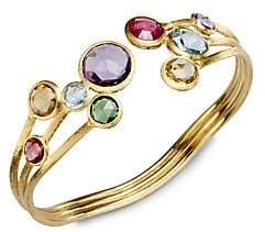 Marco Bicego Women's Jaipur Semi-Precious Multi-Stone & 18K Yellow Gold Three-Row Cuff Bracelet