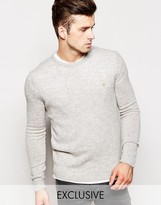 Farah Jumper In Lambswool Exclusive - Grey
