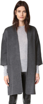 Vince Reversible Felt Cardigan Coat
