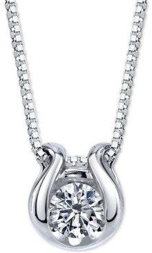 "Sirena Diamond Horseshoe 18"" Pendant Necklace (1/2 ct. t.w.) in 14k White Gold"