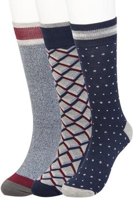 Haggar Big & Tall Comfort Geo Patterned Crew Socks (3 pack)