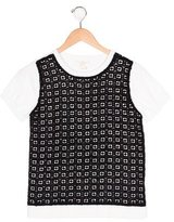Kate Spade Girls' Lace-Accented Short Sleeve Top