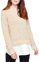 Miss Selfridge Chunky Mockneck Mock Layer Sweater