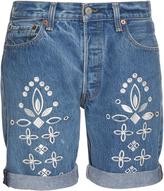 BLISS AND MISCHIEF Eyelet Bandana denim shorts