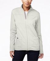 Karen Scott Quilted Zip-Front Jacket, Only at Macy's