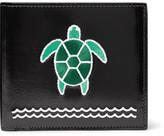 Thom Browne Turtle-Appliquéd Polished-Leather Billfold Wallet