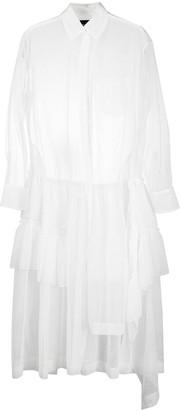 Simone Rocha Long Sheer Ruffle-Detail Dress
