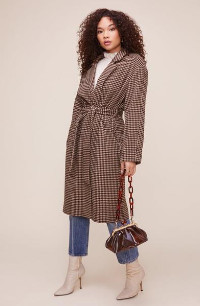 ASTR the Label The Roxanne Coat In Mocha - XS
