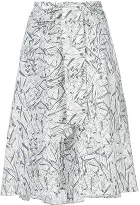 Chalayan Flared Print Skirt