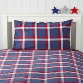 The White Company Max Check Flannel Bed Linen