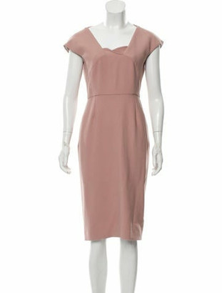 Roland Mouret Paneled Midi Dress Pink