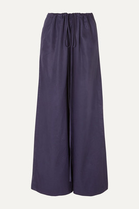BONDI BORN Lyocell Wide-leg Pants - Navy