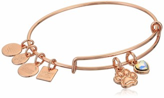 Alex and Ani Women's Paw Print Duo Charm Bracelet