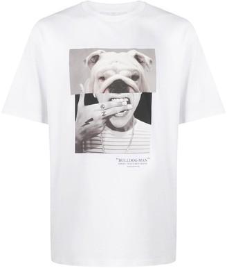 Neil Barrett Bulldog-Man print T-shirt
