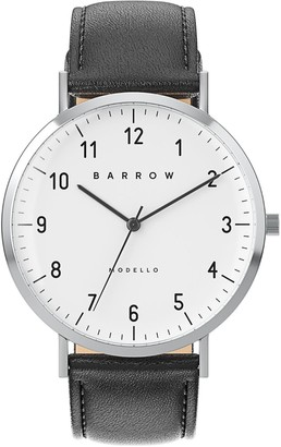 Barrow Petite Watch With Steel Mesh Strap & Black Leather Strap