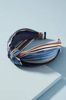 Anthropologie Velvet Preppy Striped Headband