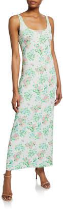 MONICA Bernadette Sleeveless Floral-Print Midi Dress