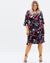 Evans Chine Fit and Flare Dress
