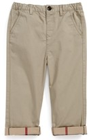 Burberry Toddler Boy's 'Ricky' Check Lined Roll Cuff Pants