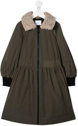 Unlabel Slow contrast collar coat