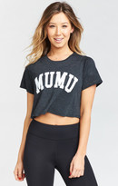 MUMU Gavin Crop Top ~ Reppin Graphic