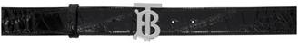 Burberry Black Croc TB Belt