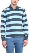 American Crew Men's Polo Stripes T-Shirt - L (AC10FS-L)