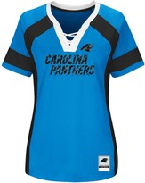 Majestic Women's Blue/Black Carolina Panthers Draft Me V-Neck T-Shirt