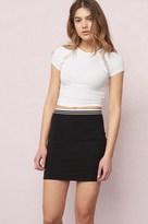 Garage Sporty Elastic Bodycon Skirt