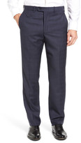 JB Britches Torino Flat Front Plaid Wool Trousers