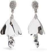 Oscar de la Renta Mini Impatiens clip-on earrings