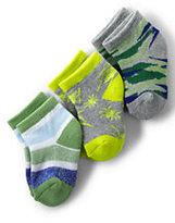 Classic Boys Pattern Ankle Sock (3-pack)-Merlot/Light Graphite