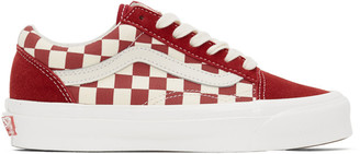 Vans White and Red OG Old Skool LX Sneakers