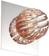 Eurofase Cosmo Collection 1-Light Chrome and Amber Wall Sconce