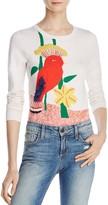 Alice + Olivia Connie Bird Embellished Crewneck Sweater