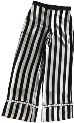 La Ligne Black Silk Trousers for Women